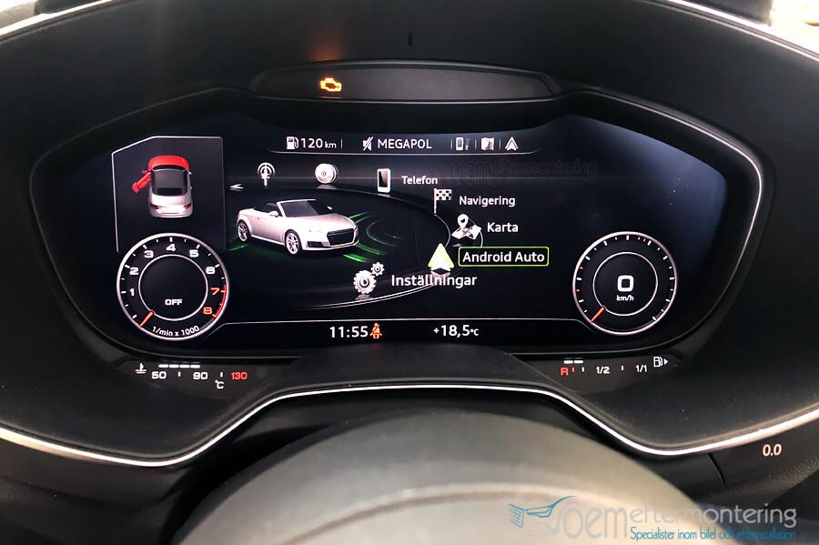 Android Auto i Audi TT (MMI)