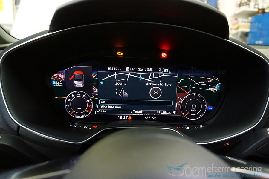 Audi TT (8S) med MMI Touch funktion