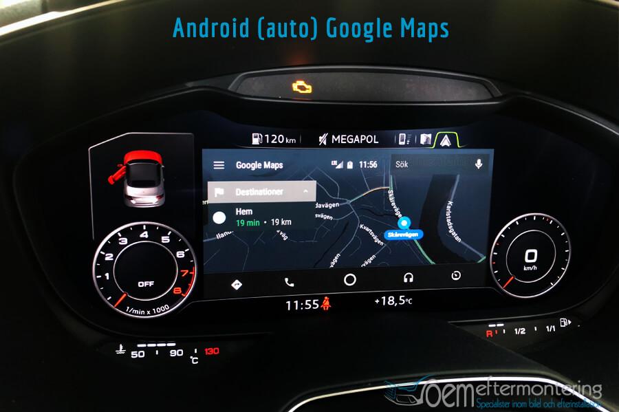 Audi TT (8S) kartor från Android-Auto
