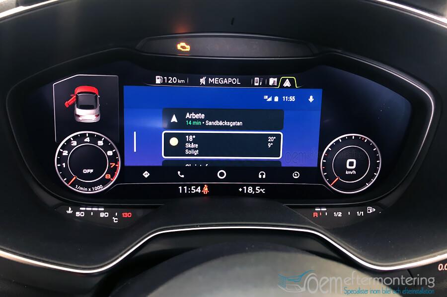 Android Auto för Audi TT (8S) 2016, 2017, 2018