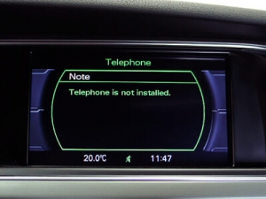 installera audi original bluetooth (handsfree)