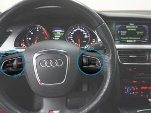 Styrning via ratt och färddator Audi handsfree
