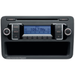 VW original radio modellbeteckning RCD-210 (SAFE) radio-kod / säkerhetskod