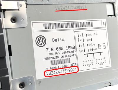 original serienummer volkswagen vw