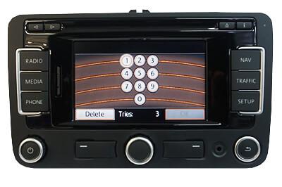 VW RNS radiokod, pinkod, safe Volkswagen